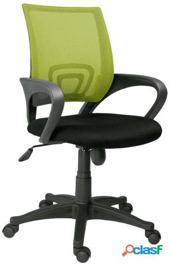 Wellindal silla de oficina giratoria modelo logic negro /