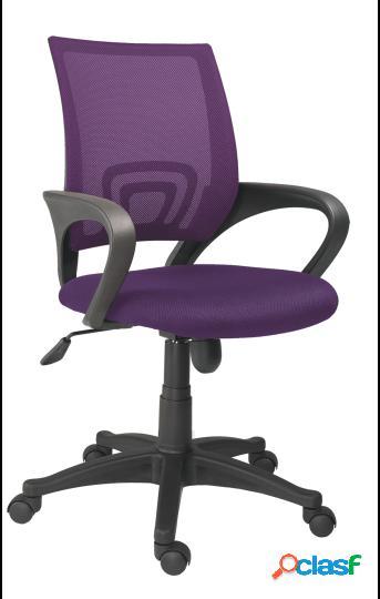 Wellindal silla de oficina giratoria modelo logic violeta