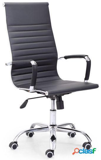 Wellindal sillón giratorio letter símil piel negro