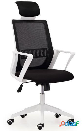 Wellindal sillón giratorio london red transpirable negro.