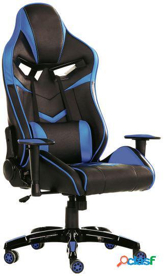 Wellindal sillón giratorio tech gaming símil piel negro -