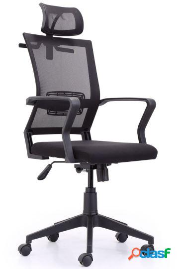 Wellindal sillón giratorio winner red transpirable negro
