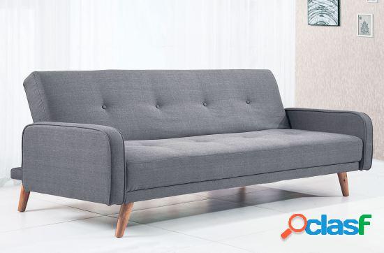 Wellindal sofá cama clic clac modelo nilsson tex gris