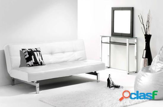 Wellindal sofa cama clic clac modelo chic blanco