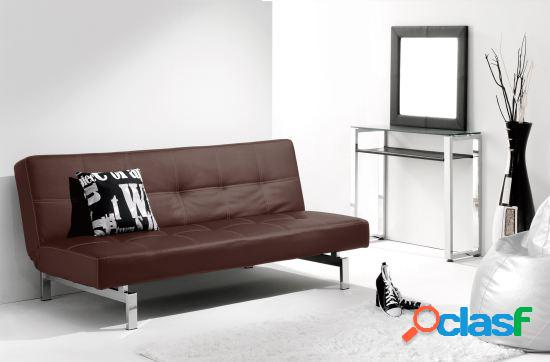Wellindal sofa cama clic clac modelo chic chocolate