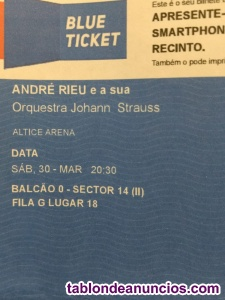Vendo 2 entradas concierto andre rieu
