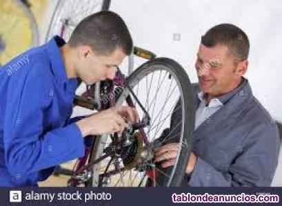 Mecánico de bicicletas con ingles para bélgica