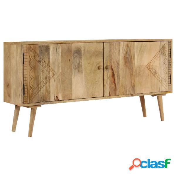 Aparador de madera maciza de mango 120x30x60 cm
