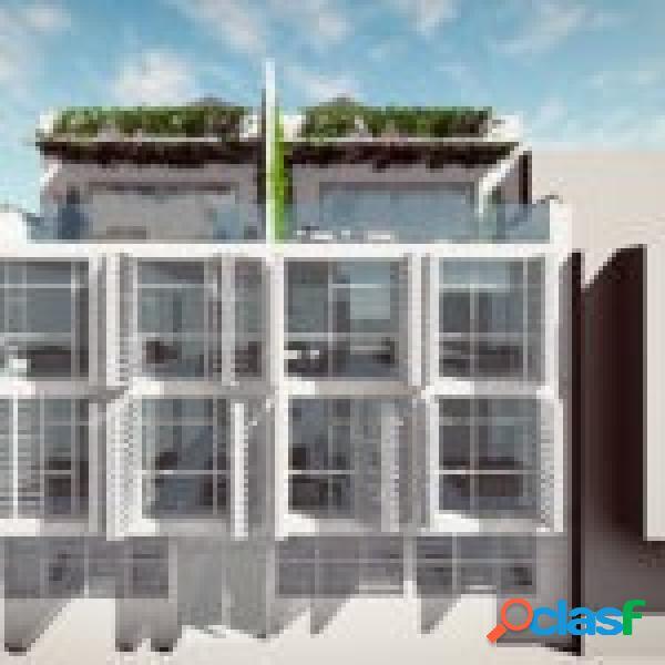 Apartamento de 2 dormitorios en construcción con terraza