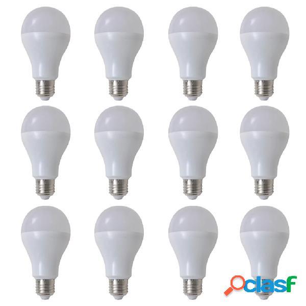 Bombilla LED, E27, 12 unidades, blanco cálido, 12 W