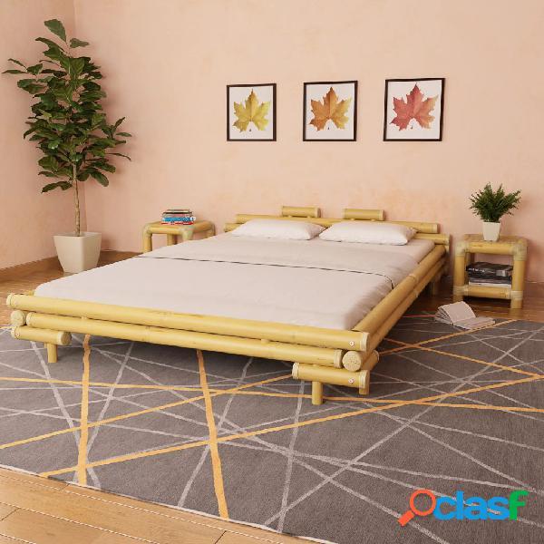 Cama de bambú natural 160x200 cm