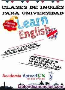 Clases de inglés para universitarios
