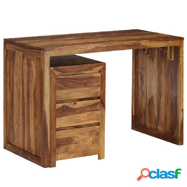 Escritorio de madera maciza de sheesham 110x55x76 cm