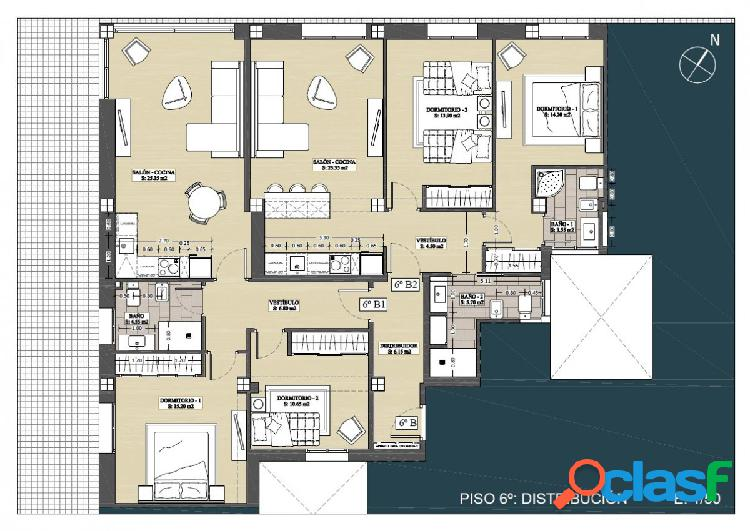 Exclusivo piso de 2 dormitorios en zona centro