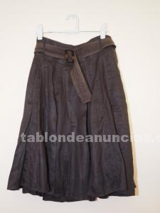 Falda de lino de zara talla m-l
