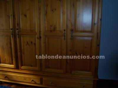 Habitacion madera de roble