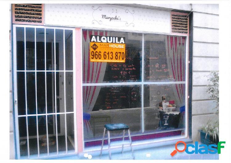 Local comercial en Elche zona Centro, 50 m2 planta y 90m2