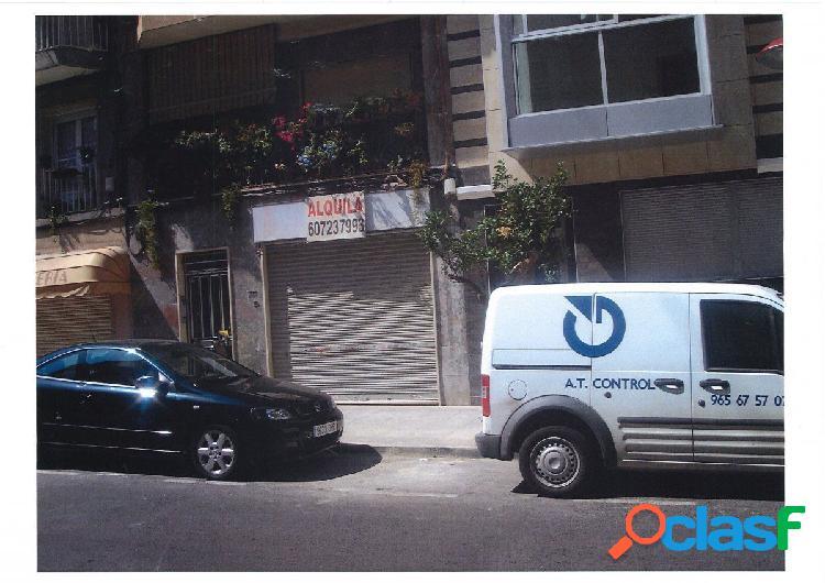 Local comercial en Elche zona Plaza Obispo Siuri, 100 m2.