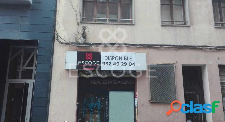 Local en venta junto a la calle Verdi de Gracia
