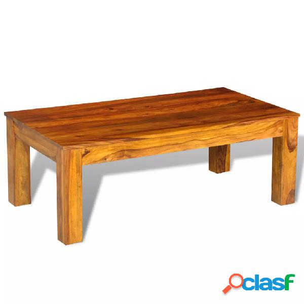 Mesa de centro de madera maciza de sheesham 110x60x40 cm