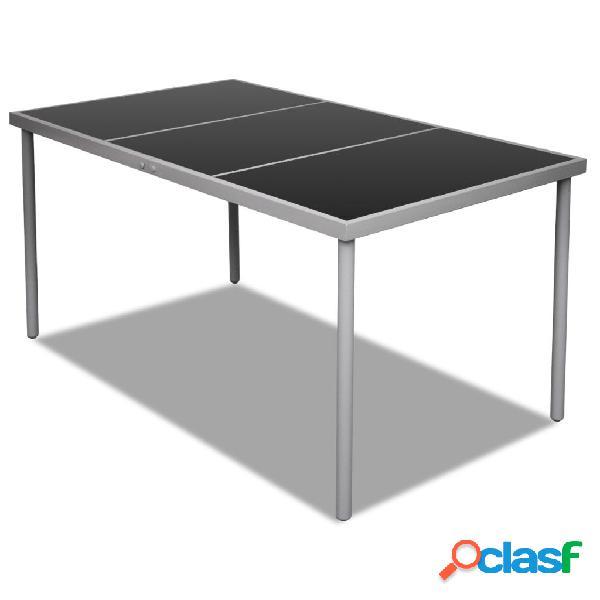 Mesa de comedor de jardín con superficie de vidrio