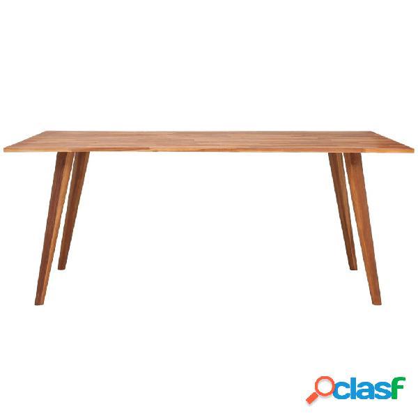 Mesa de comedor de madera de acacia maciza marrón