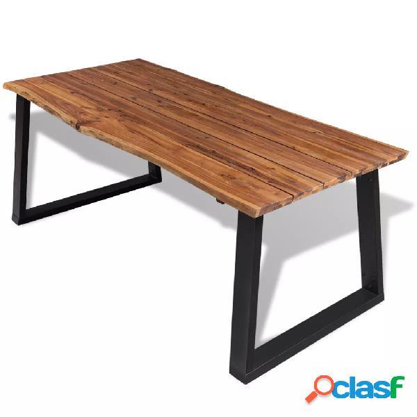Mesa de comedor madera maciza de acacia 180x90 cm