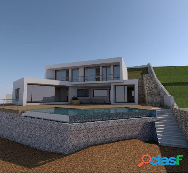Moderna villa en construcción en venta en El Portet Moraira