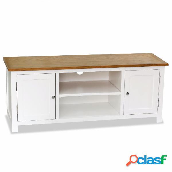 Mueble para la TV de roble macizo 120x35x48 cm