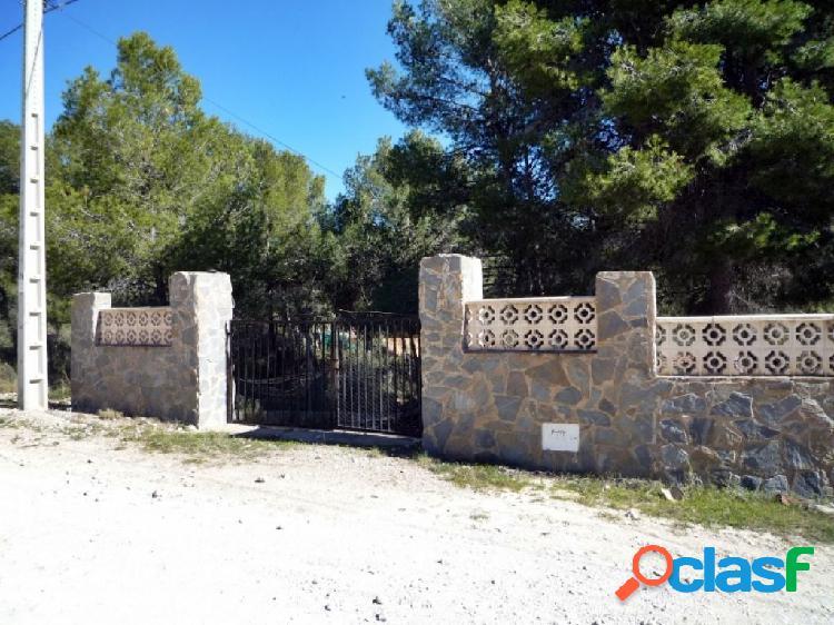Parcela urbana con casa y balsa en Tibi - Alicante