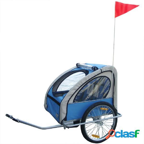 Remolque de bicicleta para niños Azul 36 kg