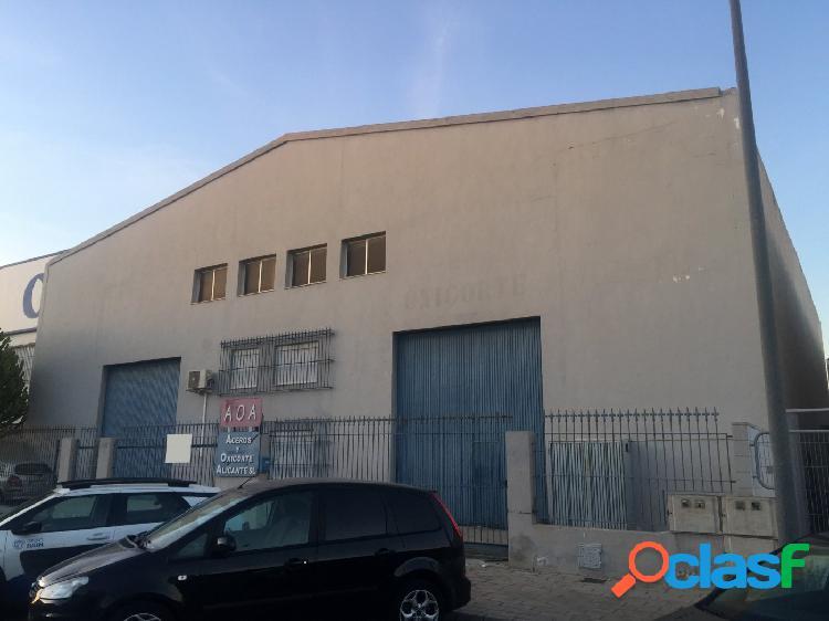 Se vende nave industrial en polígono de Babel, Alicante
