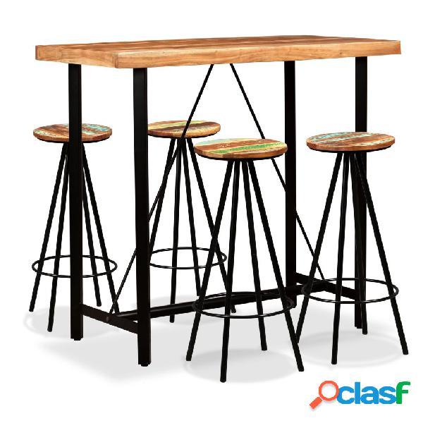 Set de muebles de bar 5 piezas madera de Sheesham y