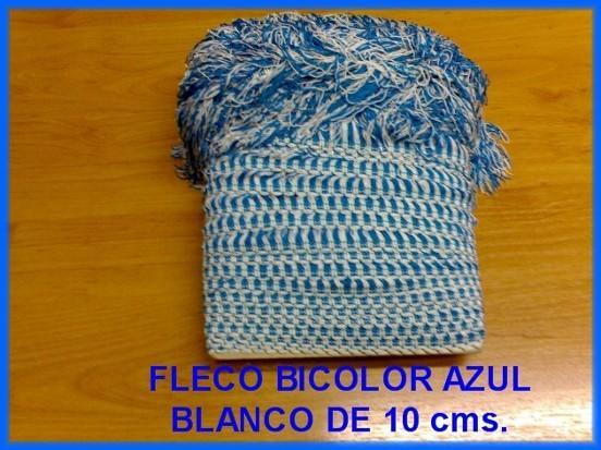 VENDO PIEZA DE FLECO BICOLOR AZUL-BLANCO PARA FLECOS GAITAS
