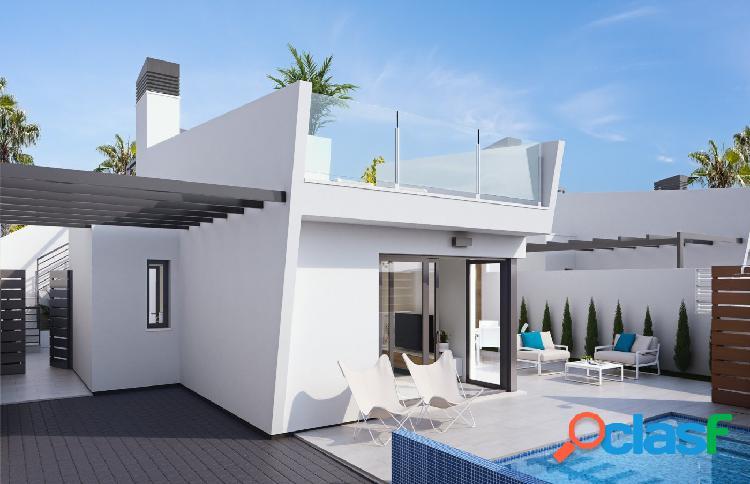 Villa con piscina privada a 300m del mar en Los Alcazares!!