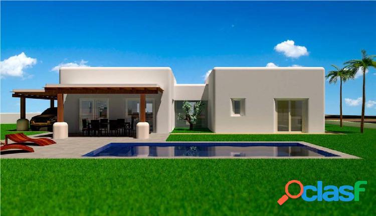 Villa de estilo ibicenco de una sola planta en Alfaz del Pi.