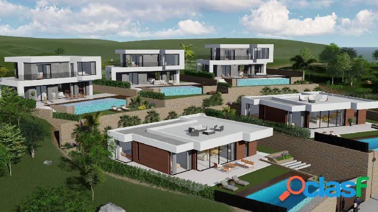 Villa de estilo moderno con piscina privada y magníficas