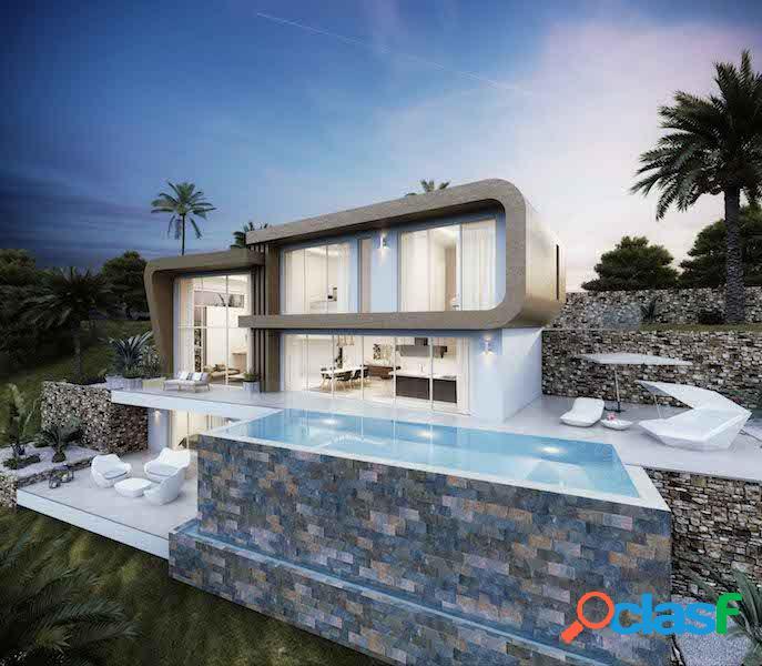 Villa en Moraira con vistas al mar