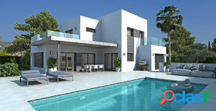 Villa moderna de nueva construcción con piscina en Calpe