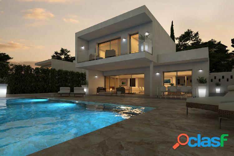 Villa moderna de nueva construccion en Moraira con vistas al