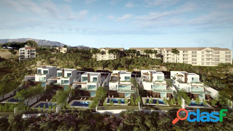 Villas de lujo con estilo contemporáneo en construcción en