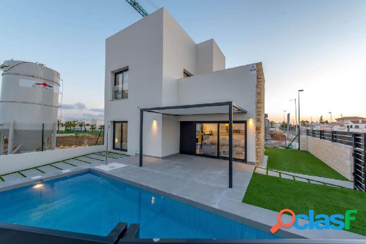 Villas modernas con piscina en Rojales