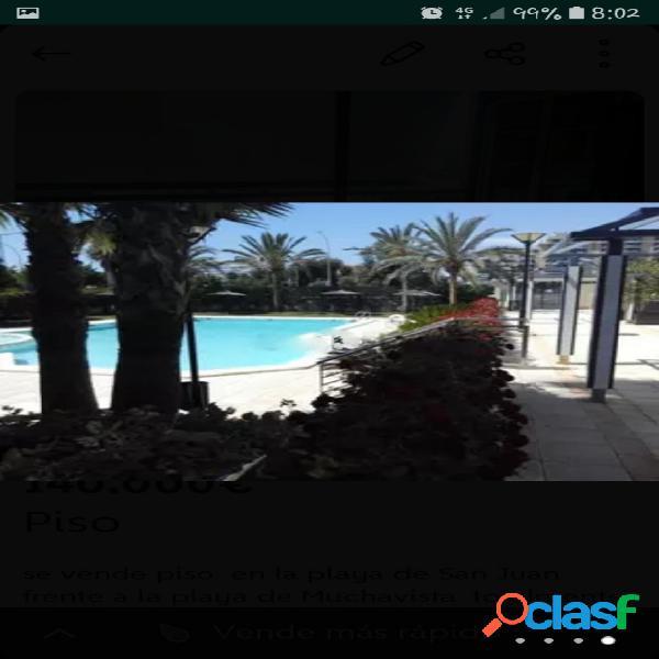 Vivienda en Playa de San Juan a 200 metros de playa, 60 m2,