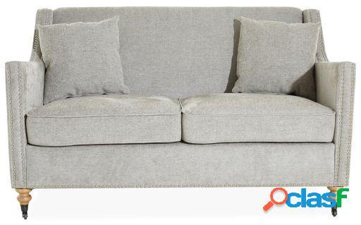 Wellindal sofá de 2 plazas gotine-gris claro 146x87x92