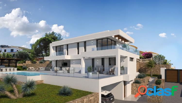 villa de diseño con vistas al mar en venta en Javea
