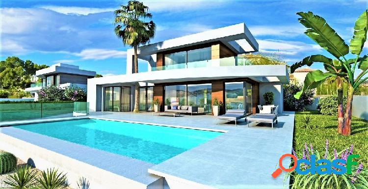 villa de lujo en construcción con bonitas vistas al mar