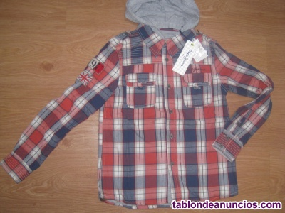 Camisa con sobrecamisa pepe jeans nueva talla 8