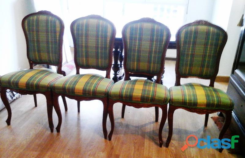 Cuatro sillas para comedor o salón