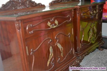 Dormitorio de caoba (caoba real, no caobilla) dormitorio
