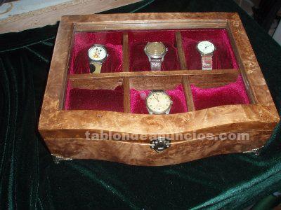 Relojes de caja de reloj madera de hombres reloj caja novio